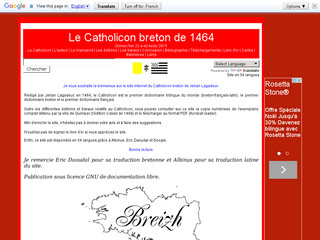 Le Catholicon, le premier dictionnaire trilingue breton-français-latin